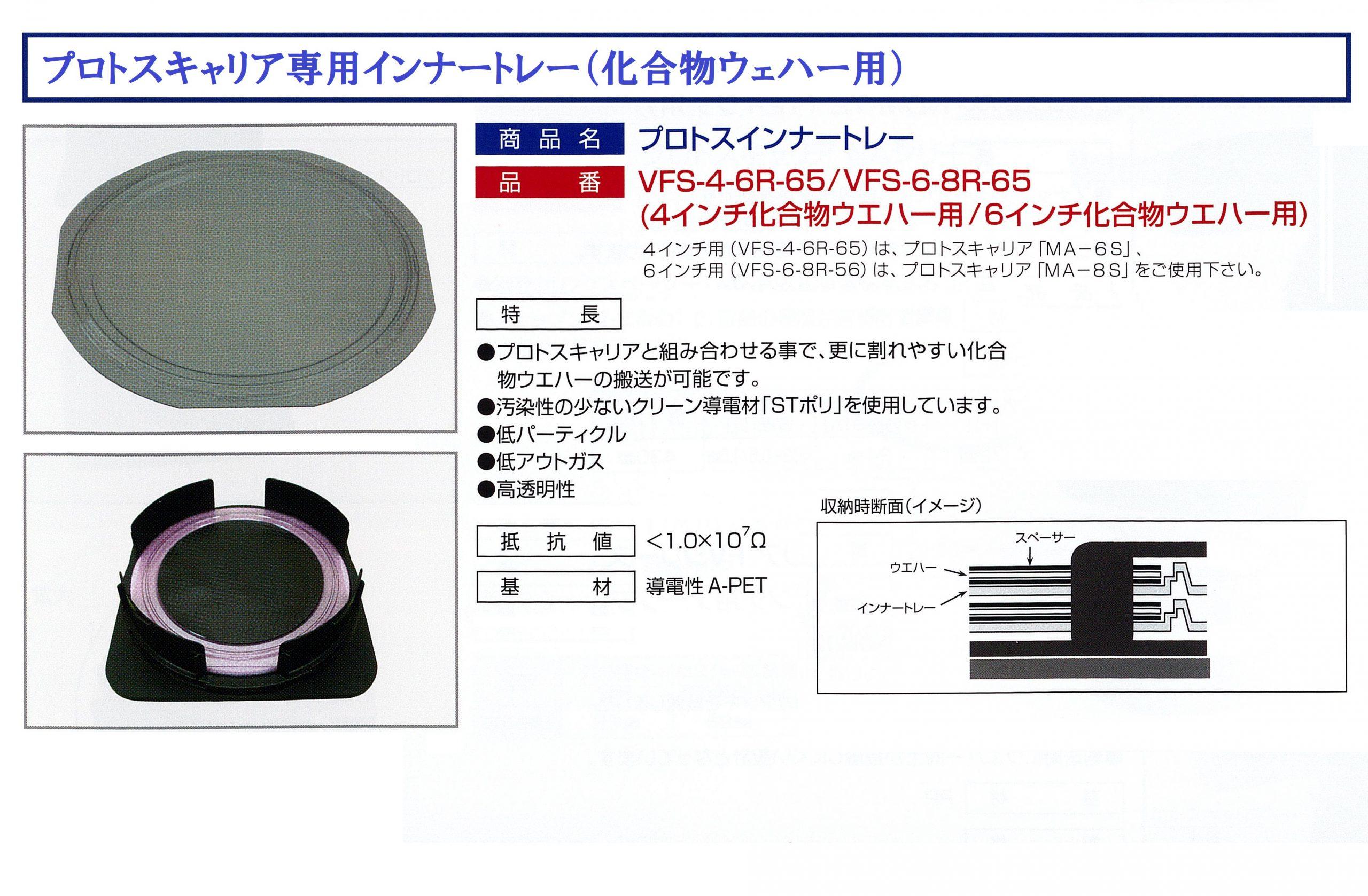 化合物ウェハー搬送用トレー(プロトスキャリア専用)